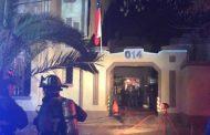 Un incendio afectó a conocido motel en Santiago