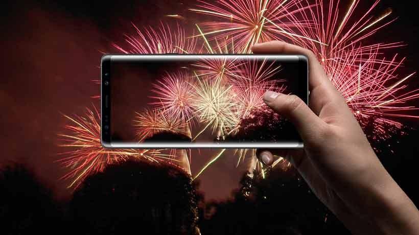 Guía para sacar las mejores fotos de los fuegos artificiales con el celular