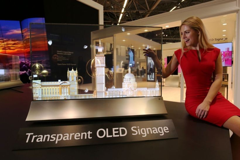 LG presentó el primer televisor OLED transparente del mundo