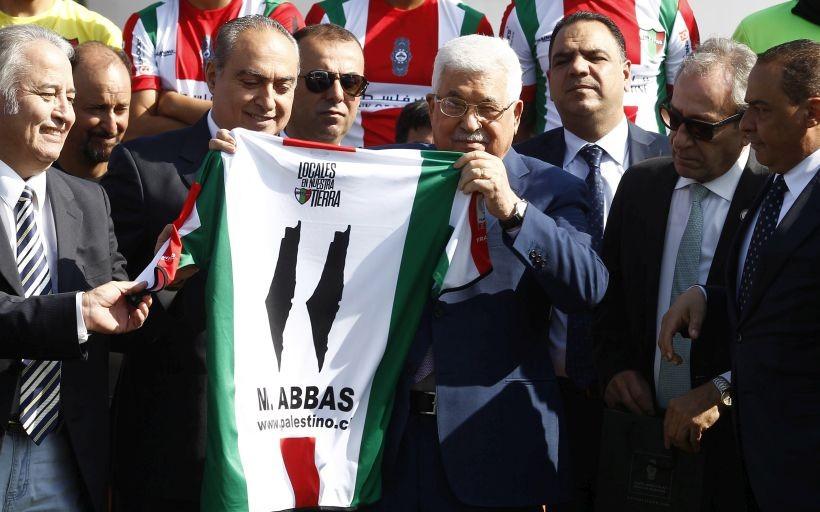 Deportes: Mahmud Abás visitó al plantel de Palestino en La Cisterna